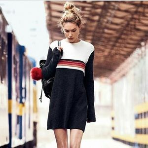 Free People Color Block Sweater Dress